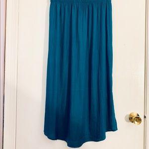 Loft green/teal ankle skirt with slide slits
